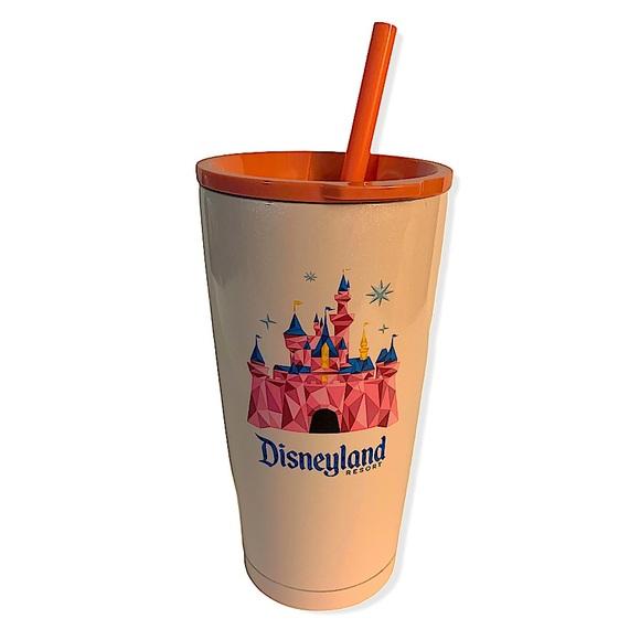 Starbucks Disneyland Pink Tumbler with Straw